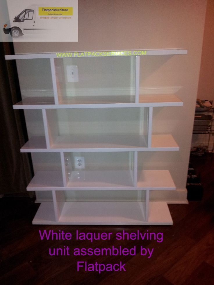 Amazon White Laquer Hi Gloss Shelving Unit Assembled By Flatpack Assembly  NW DC Www.flatpackservices