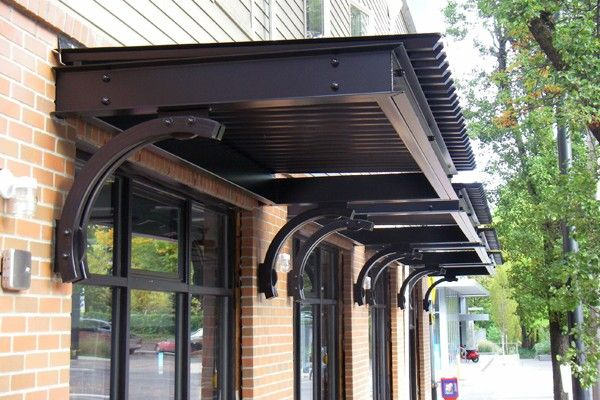 Flat Metal Awnings For Houses Google Search Front Door