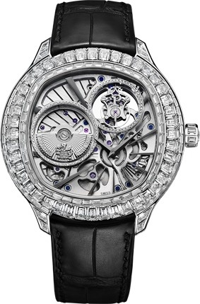 Montre Piaget Emperador de forme coussinUltra Thin Tourbillon, Piaget Luxury, Diamonds Ultra Thin, Luxury Watches, Cushions Shapped Watches, Diamonds Ultrathin, Watches G0A37039, Tourbillon Watches, White Gold Diamonds