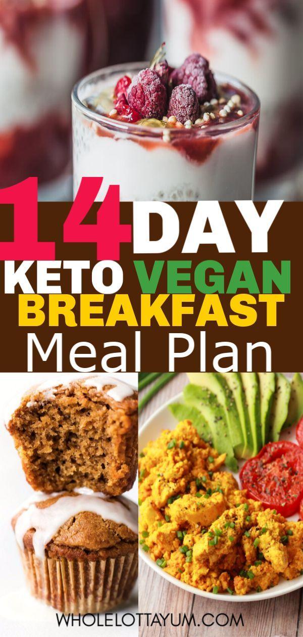 Keto vegane Mahlzeit Plan zum Frühstück
