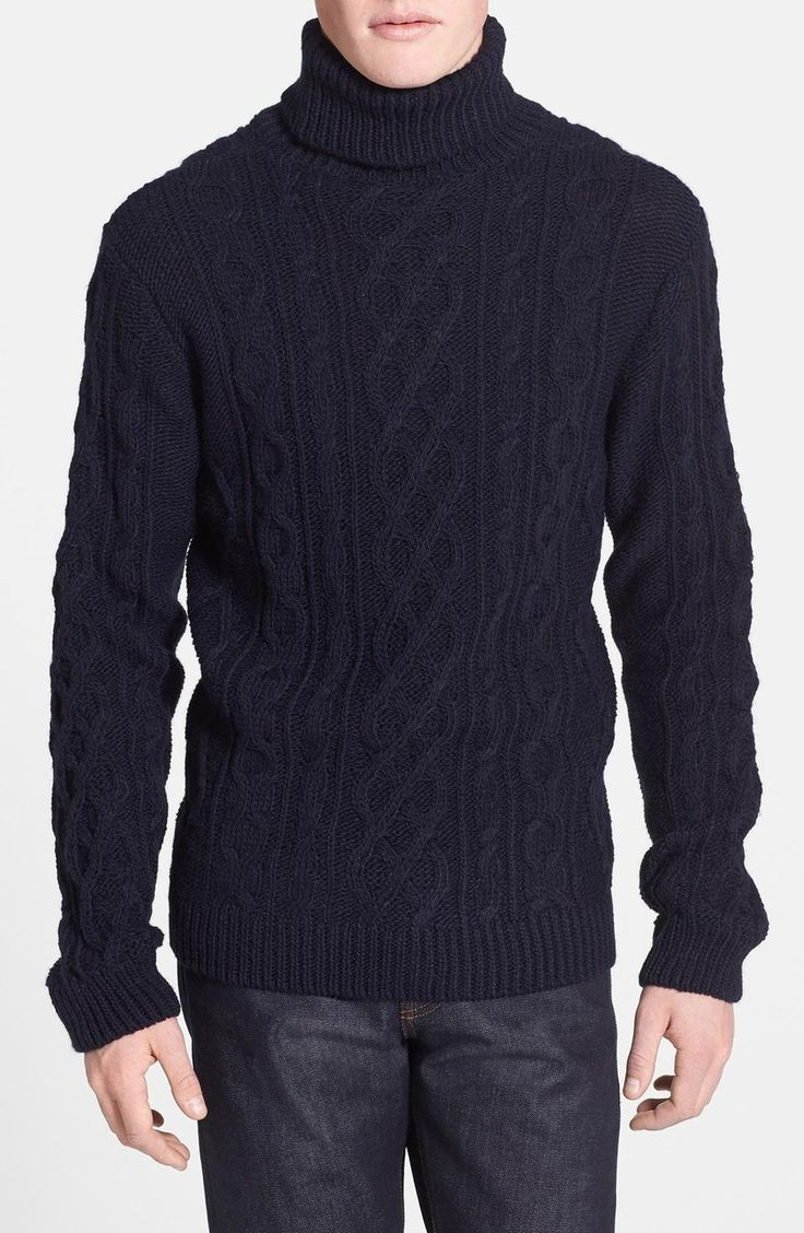 I'd love to find a chunky, navy, turtle neck sweater. Perfect for chilly ocean drives (and my chilly ocean office).