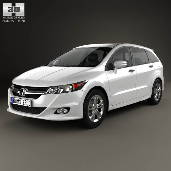 Honda Stream RSZ 2009 3d model from humster3d.com. Price: $75