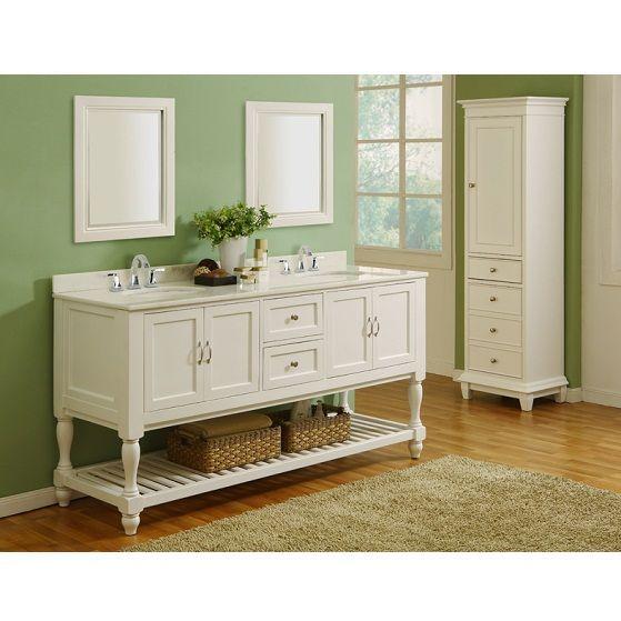 White Bathroom Double Vanity 53 best white bathroom vanities images on pinterest | white