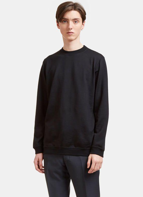 8d4f76569 AIEZEN AIEZEN Men s Wool blend Long Sleeved Sweatshirt in Black ...
