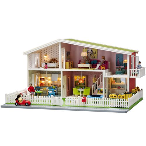 Super cute swedish dollhouses made by micki kids pinterest modern dollhouse a house and for Ikea casa bambole