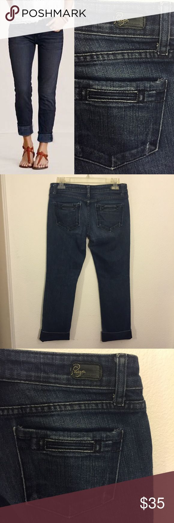 PAIGE Premium Denim Ankle Pant Beautiful Paige Premium Denim Capri Ankle length. Size 28! Lightly worn and ready for the next owner!!! Beautiful quality denim, I love this brand. Straight leg. Photos display the pants cuffed and not cuffed for your preference. Adorable look. Paige Jeans Jeans Ankle & Cropped