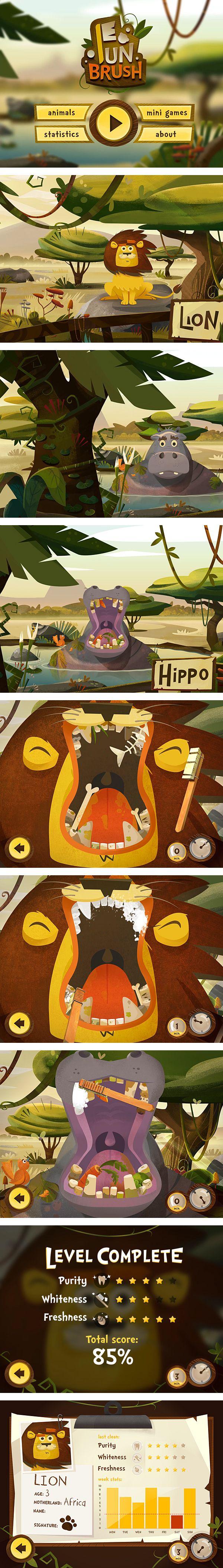 animation for FunBrush. #animals