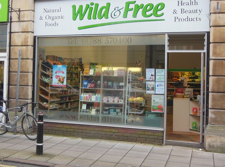 Wild and Free in Rugby, Warwickshire  Small, independently owned food shop that specialises in organic products. Stocks lots of vegan items.