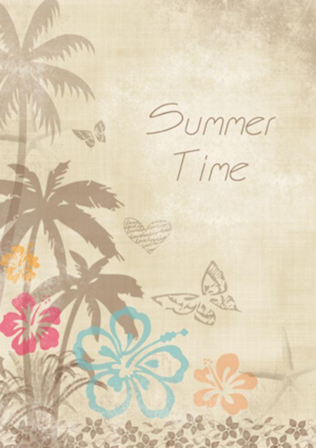"""Set per scrapbooking - Set di carte XL per Scrap """"Tropycal Summer"""" 120g - un prodotto unico di SweetBioDesign su DaWanda"""