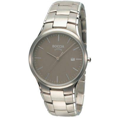 Boccia Mens Grey Dial Titanium Bracelet Watch - B3512-02 - RRP £125.00 - Online Price £106.25