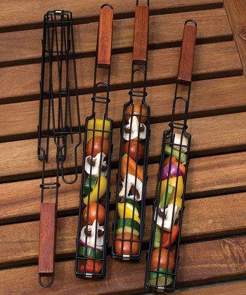 Nonstick Kebob Basket - Set of Four