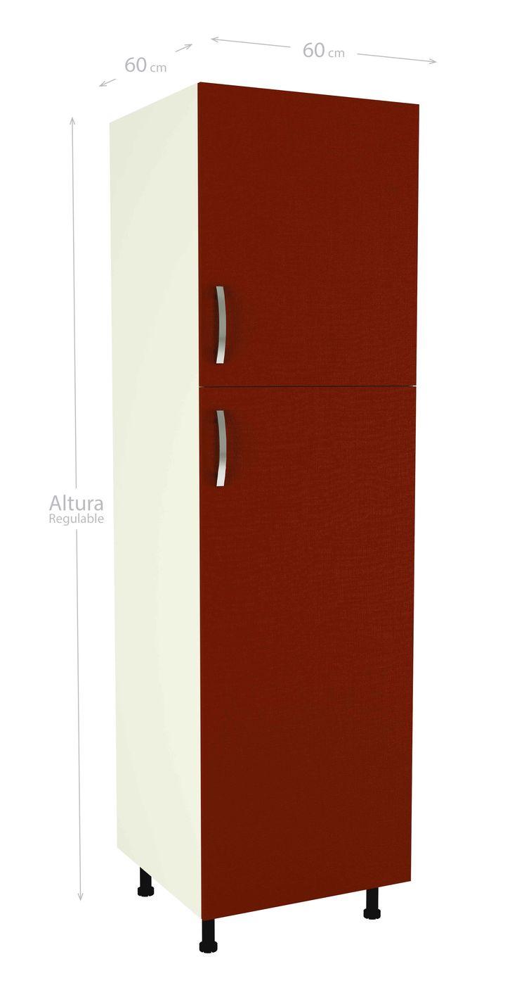 Ideas de color de la cocina con muebles blancos - M Dulo Alto De Cocina Con Dos Puertas Y Varias Baldas Color Burdeos Incluye Patas Regulables
