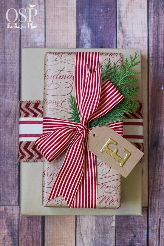Christmas Gift Wrapping Ideas | Easy, inexpensive and festive! | onsuttonplace.com: