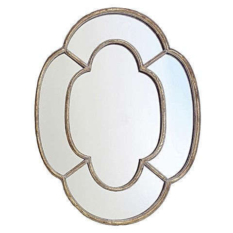 Insist on a vintage-inspired update for your décor with the aged Rossin Wall Mirror from Searles Homewares.