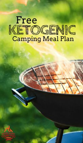 Camping while keto? Download the free 4-Day Keto Camping Meal Plan, Shopping List, and Prep Checklist. Always easy, always free! #keto #camping