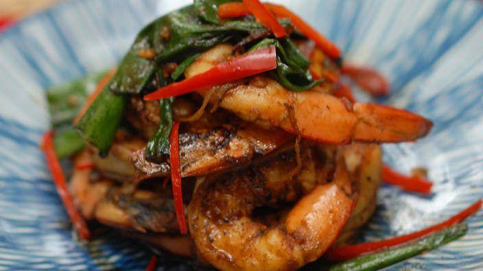 Spiced Mekong Delta prawns recipe : SBS Food