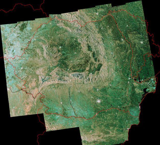 FOTO România văzută din satelit, fotografia săptămânii publicată de Agenţia Spaţială Europeană