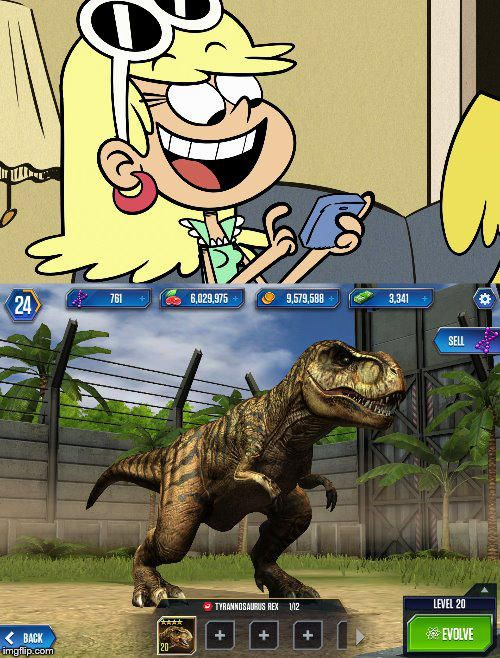 Leni Loud plays Jurassic World the game  by jgodzilla1212