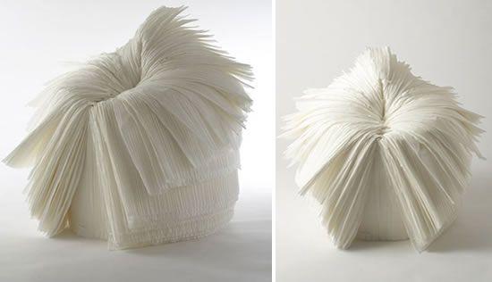 """La """"sedia cavolo"""", in inglese cabbage chair disegnata dai giapponesi di Nendo http://arredoeconvivio.com/wp-content/uploads/2013/01/ghost-stories-by-nendo-cabbage-chair-wh.jpg #design #sedutedesign"""