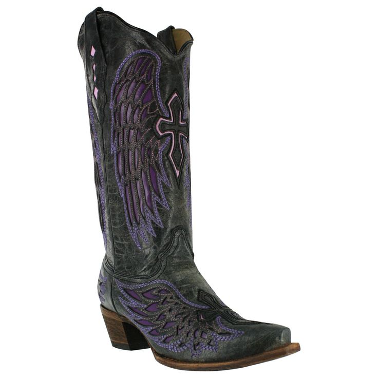 Corral Women's Cross and Wing Inlay Western Boots