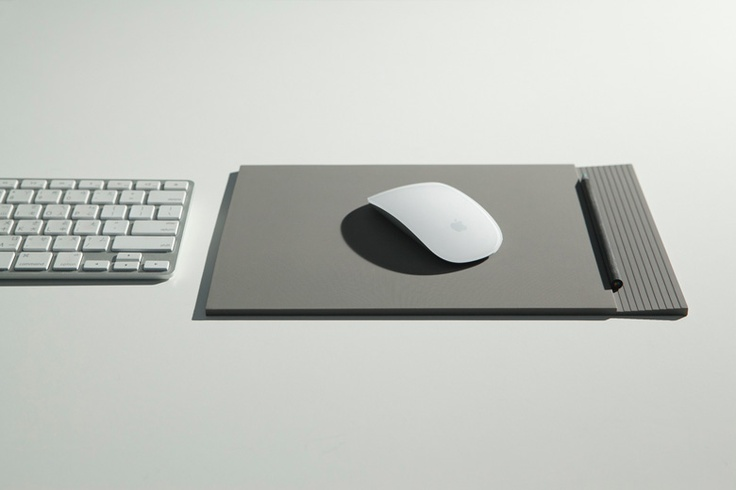 The 5mm thick, A4-size silicone piece brings together the convenience of a mouse pad and a resting place for tiny desktop accessories such as clips, coins and pencils in the form of an inwards sloping edge. $50