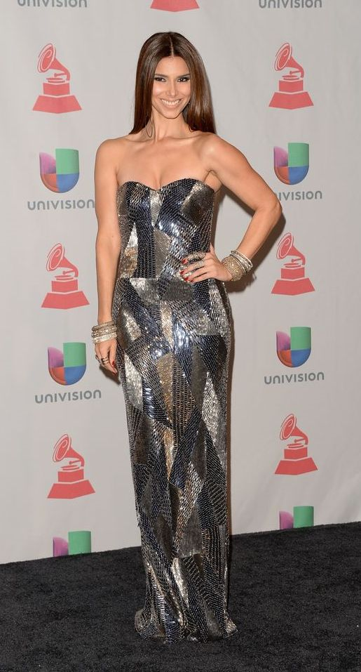 Roselyn Sanchez was stunning in Rani Zakhem at the 14th Annual Latin Grammy Awards