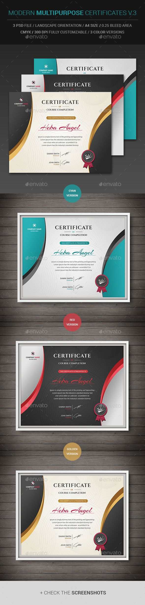 The 143 best Certificate Templates images on Pinterest | Award ...