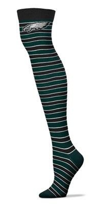 Philadelphia Eagles Women's Striped Thigh High Socks