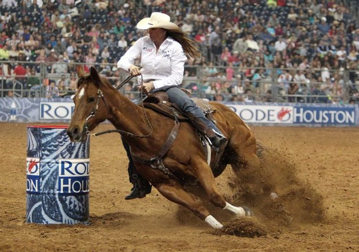 Kelli Tolbert competes in the BP Super Series III Round 1 Barrel Racing competition during Houston Livestock Show and Rodeo at Reliant Stadium on Sunday, March 3, 2013, in Houston.    Photo By Mayra Beltran/Houston Chronicle