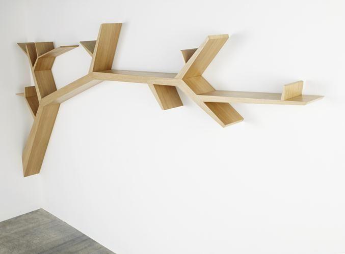 Étagère design original / en bois TREE BRANCH Olivier Dollé