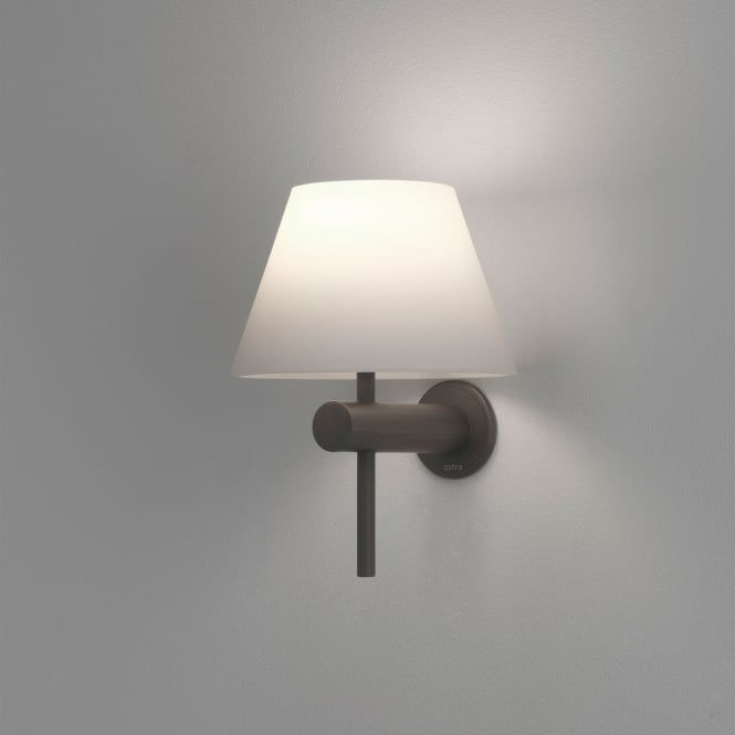 Roma IP44 Bathroom Wall Light in Bronze