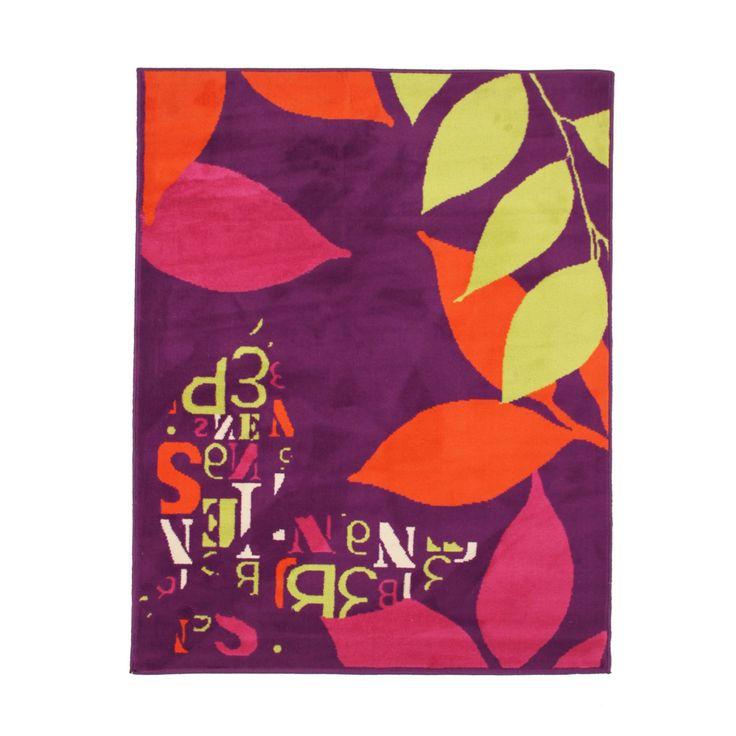 Tapis coloré 120x170cm Violet - Colors Text - Les tapis moyens - Tapis pour chambre et salon - Tapis - Décoration d'intérieur - Alinéa