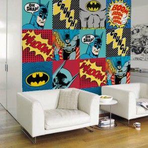 Papel de parede batman pop papel de parede pinterest - Papel pared comic ...