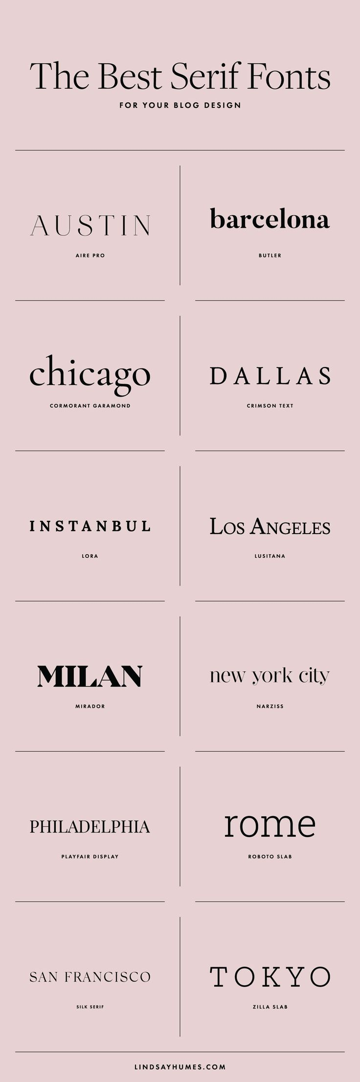 The Best Serif Fonts for Blog Designs #branding