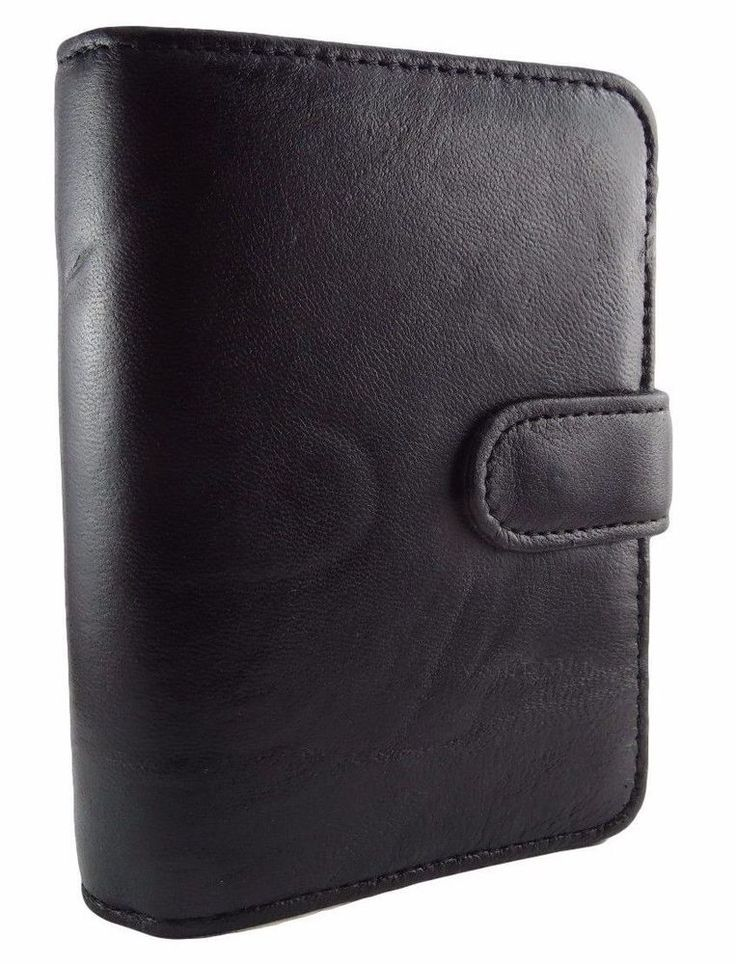 black leather daily weekly monthly planner organizer address book