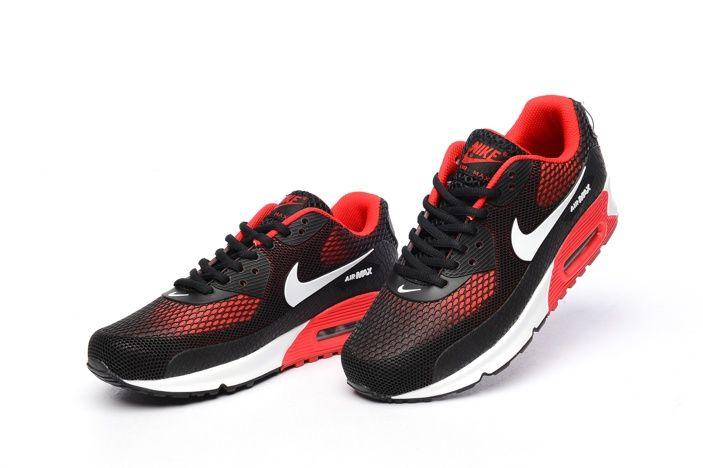 Gode di Un Paio del Nike Air Max 90 KPU TPU Di Sport Scarpe Da Corsa Per Le Donne Nero Argento Rosso