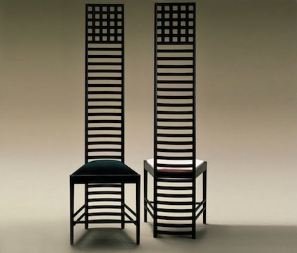 """C.R.Mackintosh chairs - Hill House. """" Designe is like a mom.Nobody notices when she´s around , but everybody misses her when sshe´s not """" Santiago Borray."""