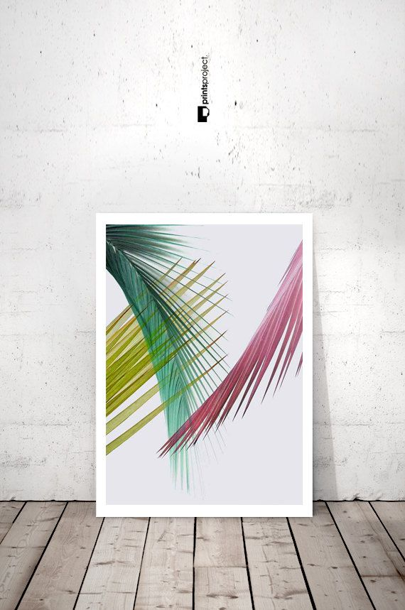 Impresión de lámina de hoja de Palma hoja de por PrintsProject