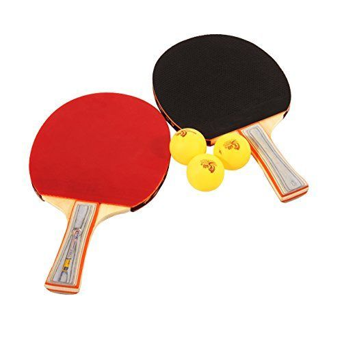 MalinTable Tennis Ping Pong Bat Paddle Blade Flared Shake Hand Grip Long Handle Two Sides Pips In Rubber Loop Attack