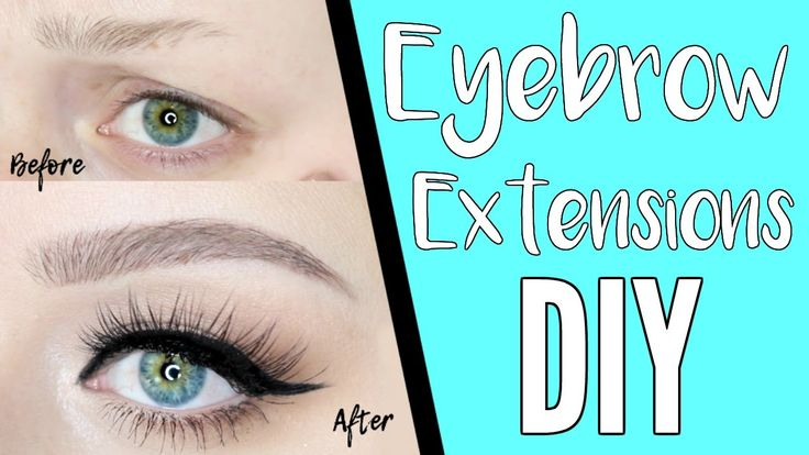 DIY EYEBROW EXTENSIONS - YouTube