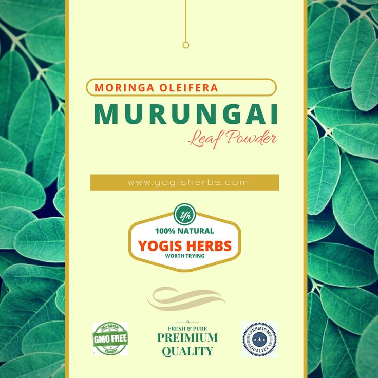 Murungai Leaf Powder (Moringa oleifera): We are happy to bring you this valuable herb and a super food often referred to as the Miracle Tree or The Tree of Life. It is packed with 7 times the Vitamin C found in oranges, 4 times the Vitamin A of carrots, 3 times the iron of spinach, 4 times as much calcium as milk, 3 times the potassium of bananas and twice the protein of yogurt.    Murungai or Moringa Oleifera is a highly valued plant, distributed in many countries of the tropics and…