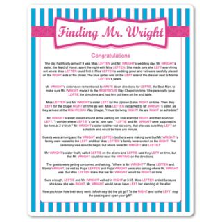 Printable Finding Mr. Wright (Blue Stripes)