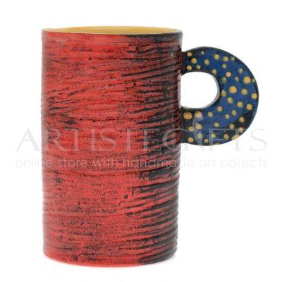 Κούπα Κεραμική Μακρόστενη Κόκκινη Σαγρέ. Αποκτήστε το online πατώντας στον παρακάτω σύνδεσμο http://www.artistegifts.com/koupa-keramiki-makrosteni-kokkini-sagre.html