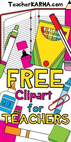 TEACHER ALERT: 78 Pieces of FREE Clipart!    FREE clipart download includes: composition books spiral notebooks crayons highlighters markers paper clips pencils pens sticky notes glue scissors erasers and MORE!!  To get your FREE school supplies clipart click here!  Best wishes!   free clipart for teachers School Supplies student clipart http://teacherkarma.com