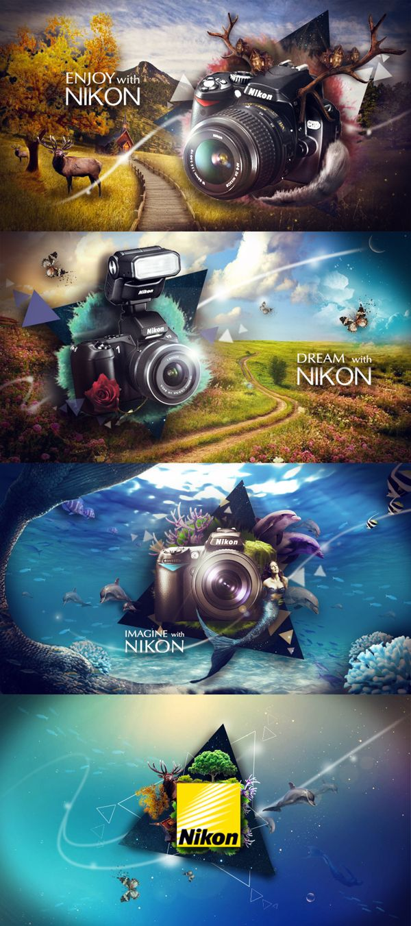Nikon by Ja Kyung PARK, via Behance