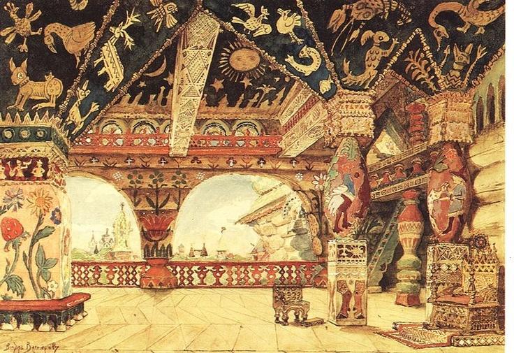 El palacio del zar Berendéi Victor Vasnetsov