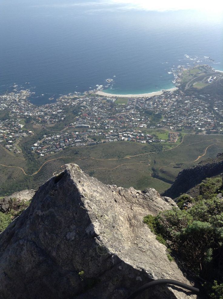 On top of table mountain South Africa