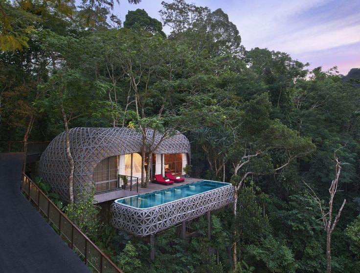 Die Keemala Villen auf Phuket - hier werden Luxusträume wahr. Wie Vogelnester schmiegen sich die Villen in den thailändischen Dschungel!