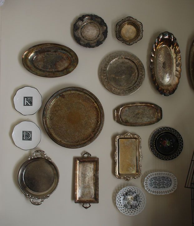 silver tray wall display