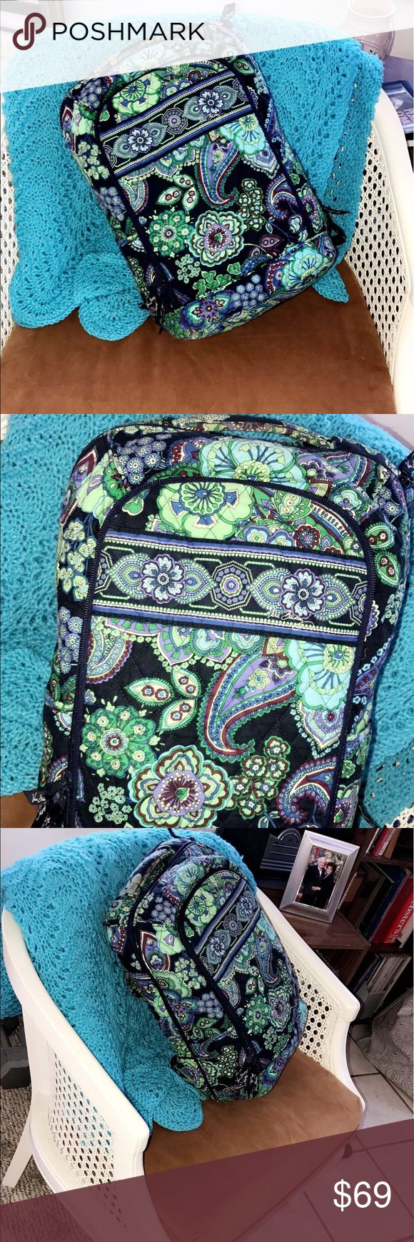 Vera Bradley Cutie Backpack Carries E V E R Y T H I N G. Barely used. Retail price goes for $108. Cute for the HS / colleger on the run ;)) Vera Bradley Bags Backpacks